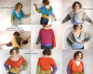X-Tee custom order one of a kind twisted from pullover sweater kid mohair and silk chunk thick soft light weight. Wrapture by Inese Iris Liepina