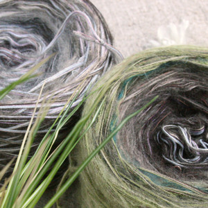 Custom wound yarn windings to knit your own shawl wrap Wrapture by Inese