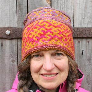 Raksti hat designed by Inese Iris Liepina for Urth Yarns