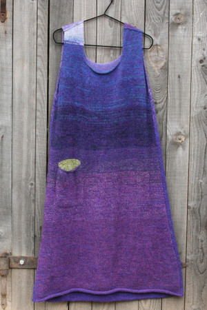 reversible A-line sarafan dress in lupine inspired colors