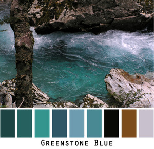 Greenstone Blue Photo by Inese Iris Liepina teal blue, tobacco brown, grey,