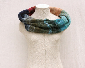 Waterlily Pond loop scarf mohair silk knit by Wrapture by Inese