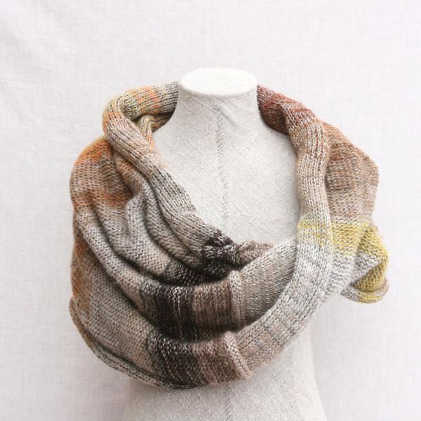 Lichen shawl wrap cotton, kid mohair, silk Wrapture by Inese