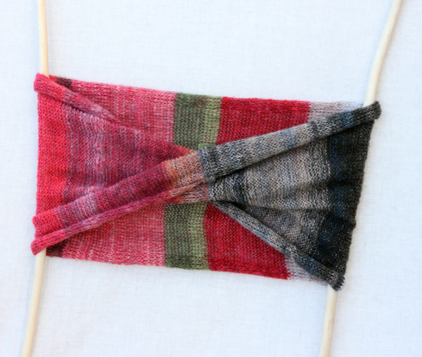 Winter Apples loop scarf - kid mohair, silk Wrapture by Inese