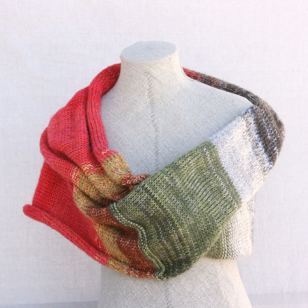 Winter Apples shawl wrap - cotton, kid mohair, silk Wrapture by Inese