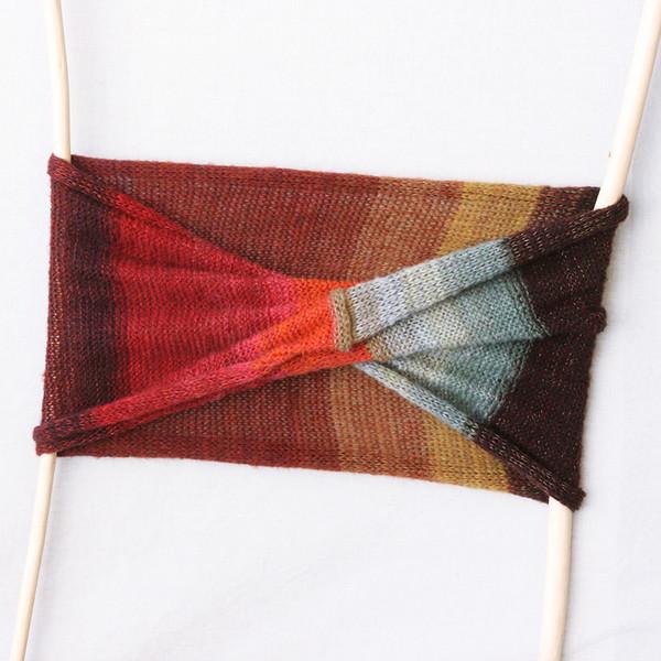 Rowan silk mohair loop scarf Wrapture by Inese