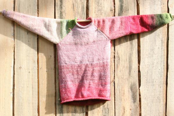 Cherry Blossom Raglan pullover sweater