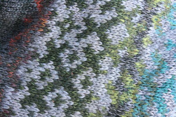 Grey Forest Latvian symbols sweater size L detail of pattern knitting
