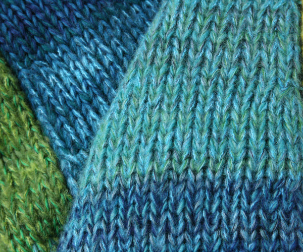 knitting detail of Mirror Lake trapeze dress by Wrapture by Inese