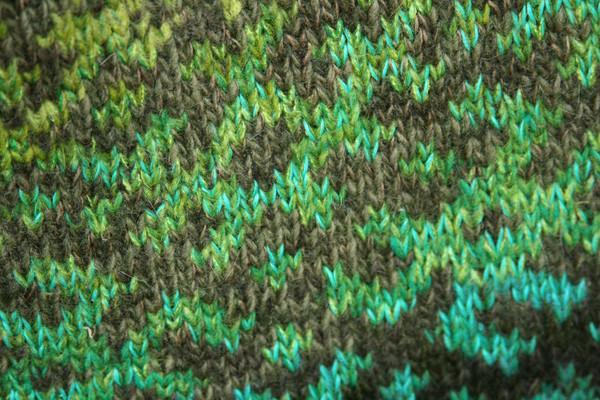 Forest Stream Latvian symbols sweater detail of pattern knitting
