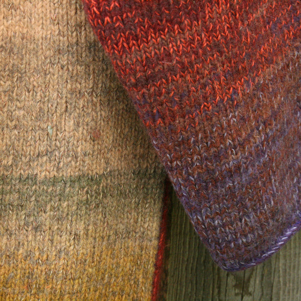 closeup detail of fabric of Sumac inspired felted boiled wool coat
