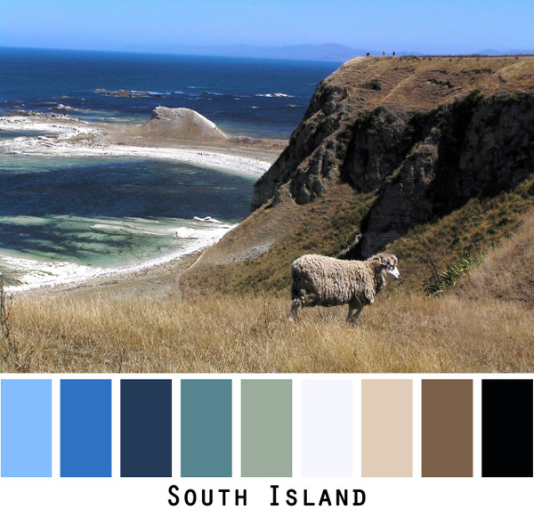 color card made from Inese Iris Liepinas photograph taken on the South Island of New Zealand