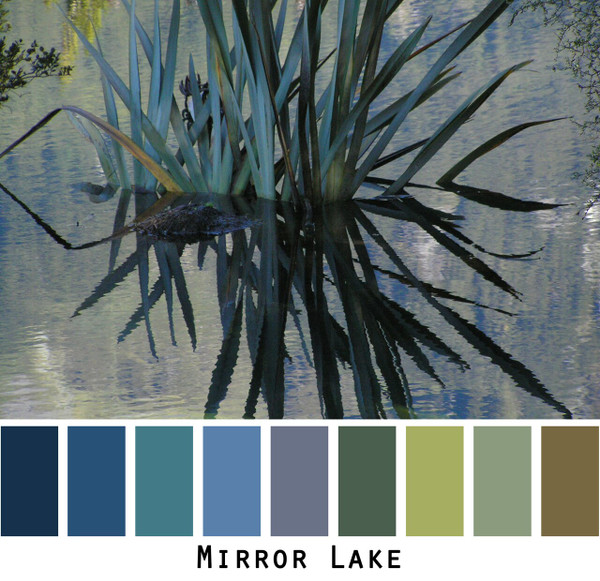 Mirror Lake photograph by Inese Iris Liepina made into a color card for custom ordering from Wrapture by Inese