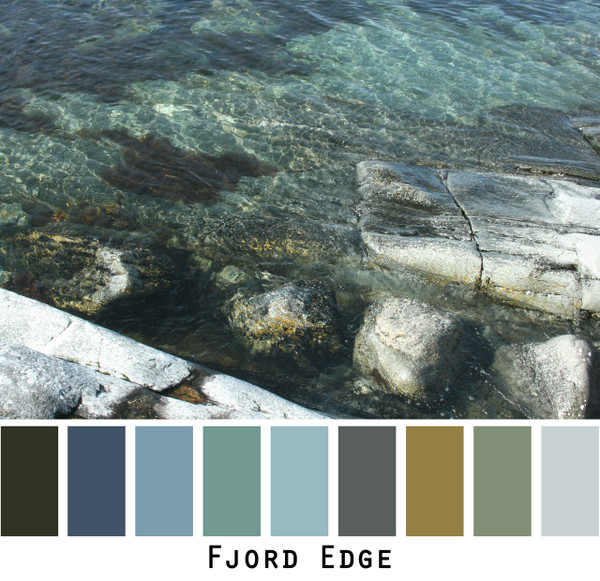 Fjord Edge photograph by Inese Iris Liepina and made into a color card for custom ordering from Wrapture by Inese