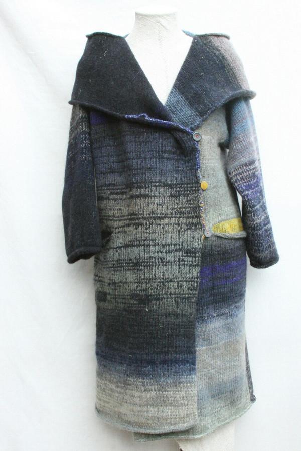Mongolian Lake felted wool coat
