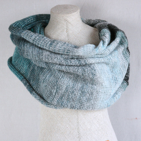 Glacier Blue shawl wrap Wrapture by Inese