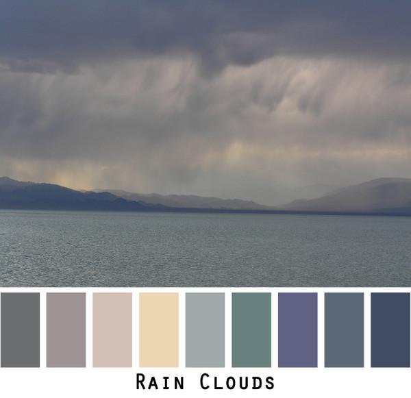 Rain Clouds - dusty pastel blue aqua grey colors for blue eyes, green eyes, brown eyes, brunette, redhead, black hair, gray hair - photo by Inese Iris Liepina, Wrapture by Inese