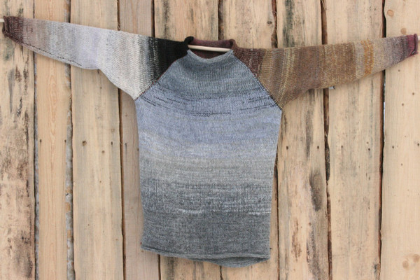 Catalonia Road raglan pullover sweater L Wrapture by Inese