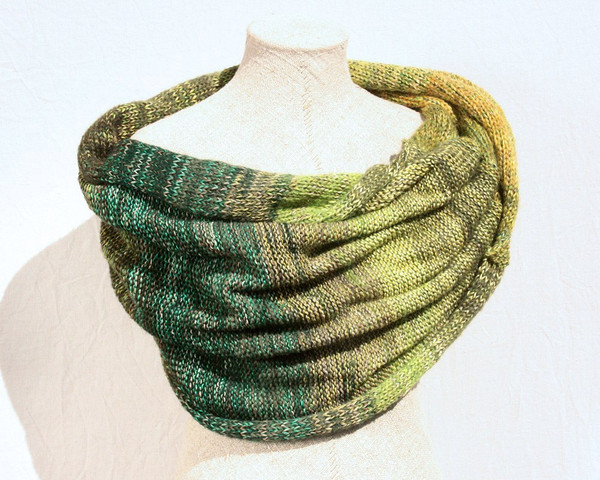 Misty Forest Shawl Wrap - cotton, silk, kid mohair Wrapture by Inese