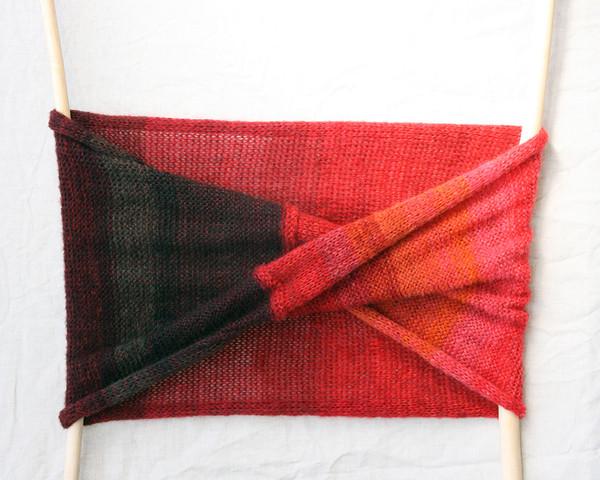 autumn rose loop scarf