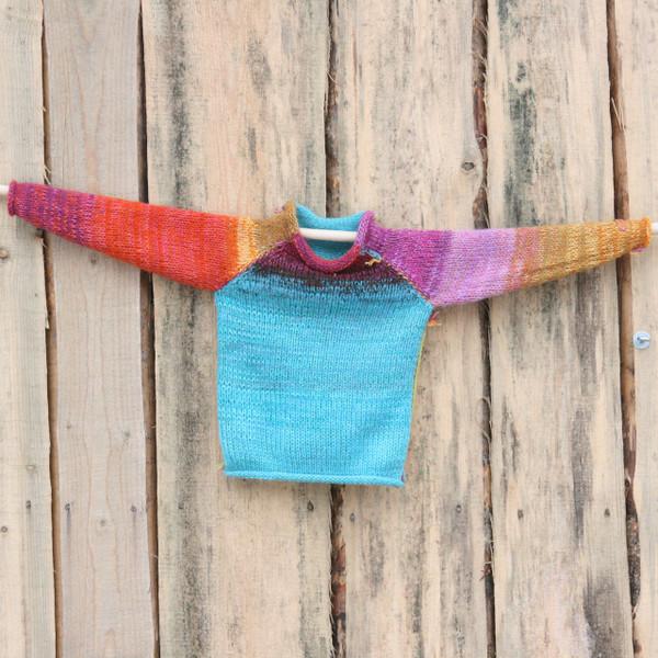 Butterfly Flower kids raglan pullover sweater