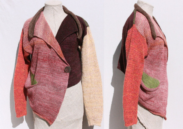 Bitene asymmetrical jacket