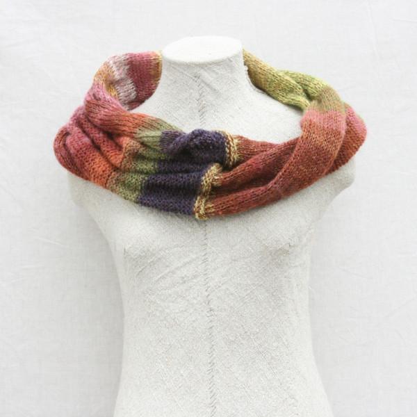 purple avens loop infinity scarf