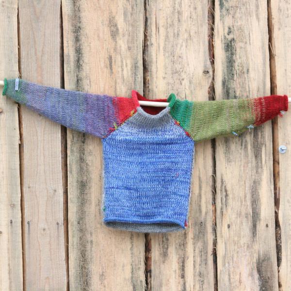 Yak & Pony kids raglan pullover sweater