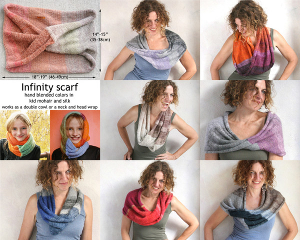 Custom order one of a kind mohair loop scarf infinity scarf wrap Wrapture by Inese Iris Liepina