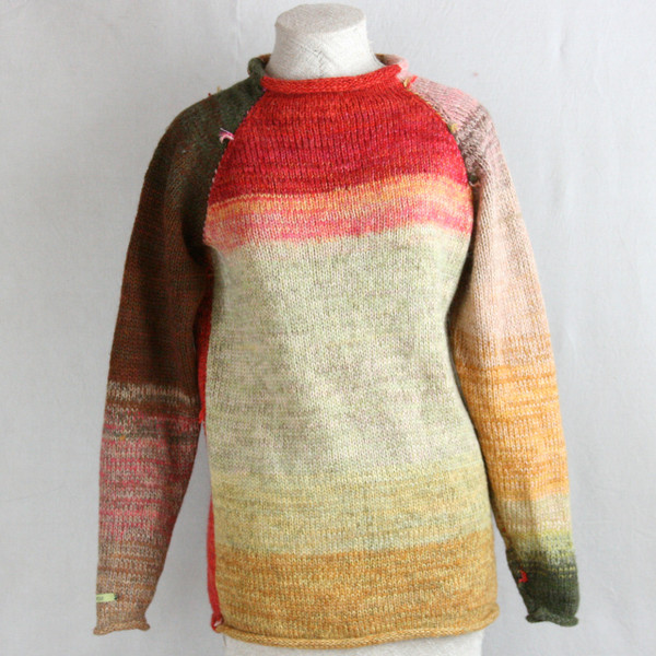 Red Rose Hips raglan pullover sweater