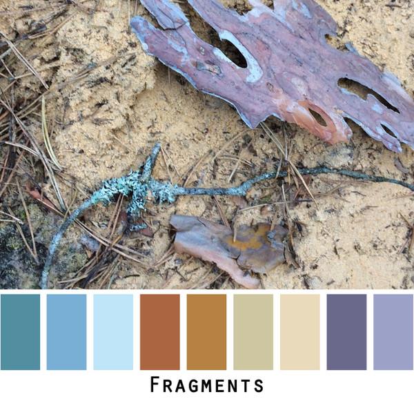 Fragments blue grey violet brown gold photo Inese Iris Liepina