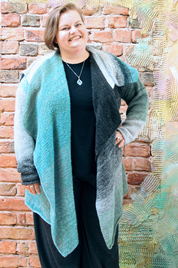 REGULAR sized  Annie long cardigan wrap sweater coat Wrapture by Inese
