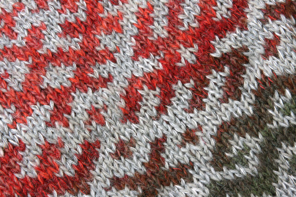 Latvian symbols sweater detail of pattern knitting
