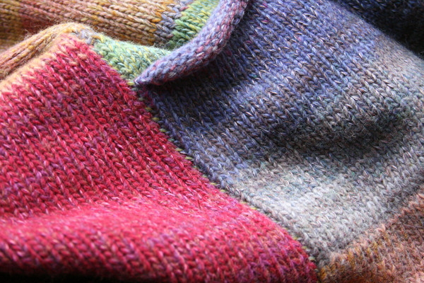Bitene M felted wool coat pocket detail closeup. Knit by Wrapture by Inese