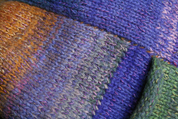 Plum S felted wool coat pocket detail closeup. Knit by Wrapture by Inese