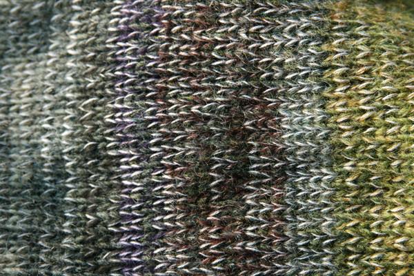 closeup of knitting detail in Greenstone calf length tank dress knit by Inese Iris Liepina