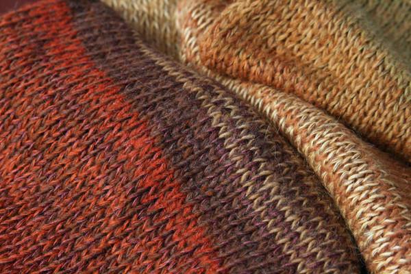 closeup of knitting detail in yellow leaf calf length tank dress knit by Inese Iris Liepina