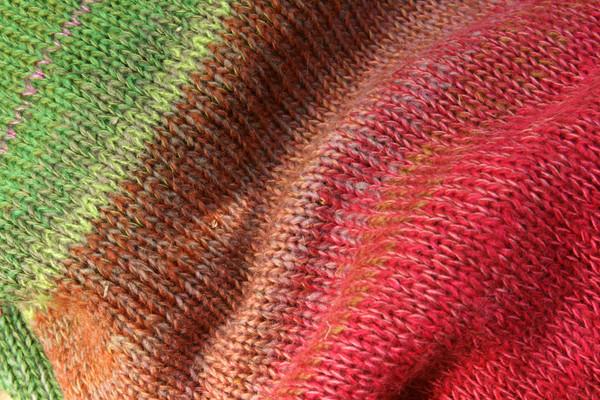 closeup of knitting detail in Waterlilies calf length tank dress knit by Inese Iris Liepina