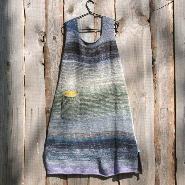 A-line sarafan dress in low tide color story by Wrapture by Inese