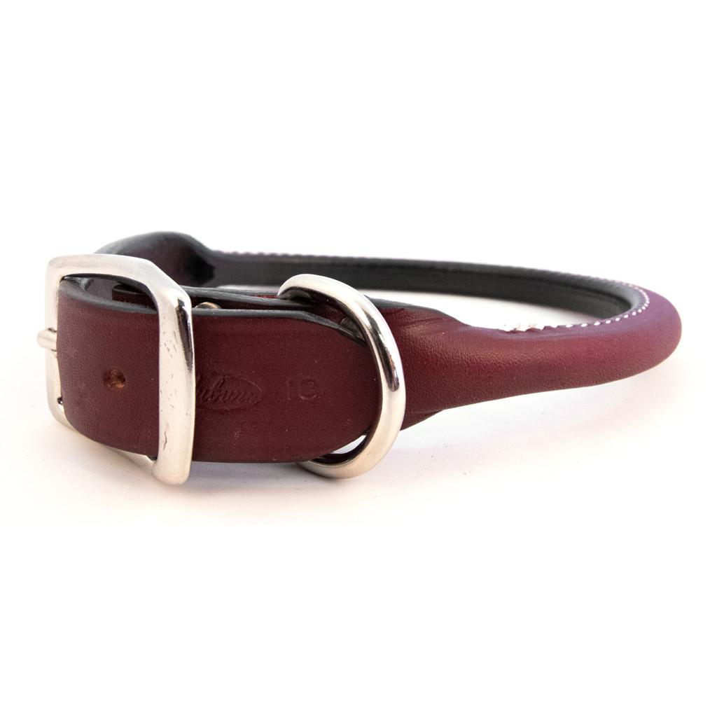 Auburn Rolled Leather Collar