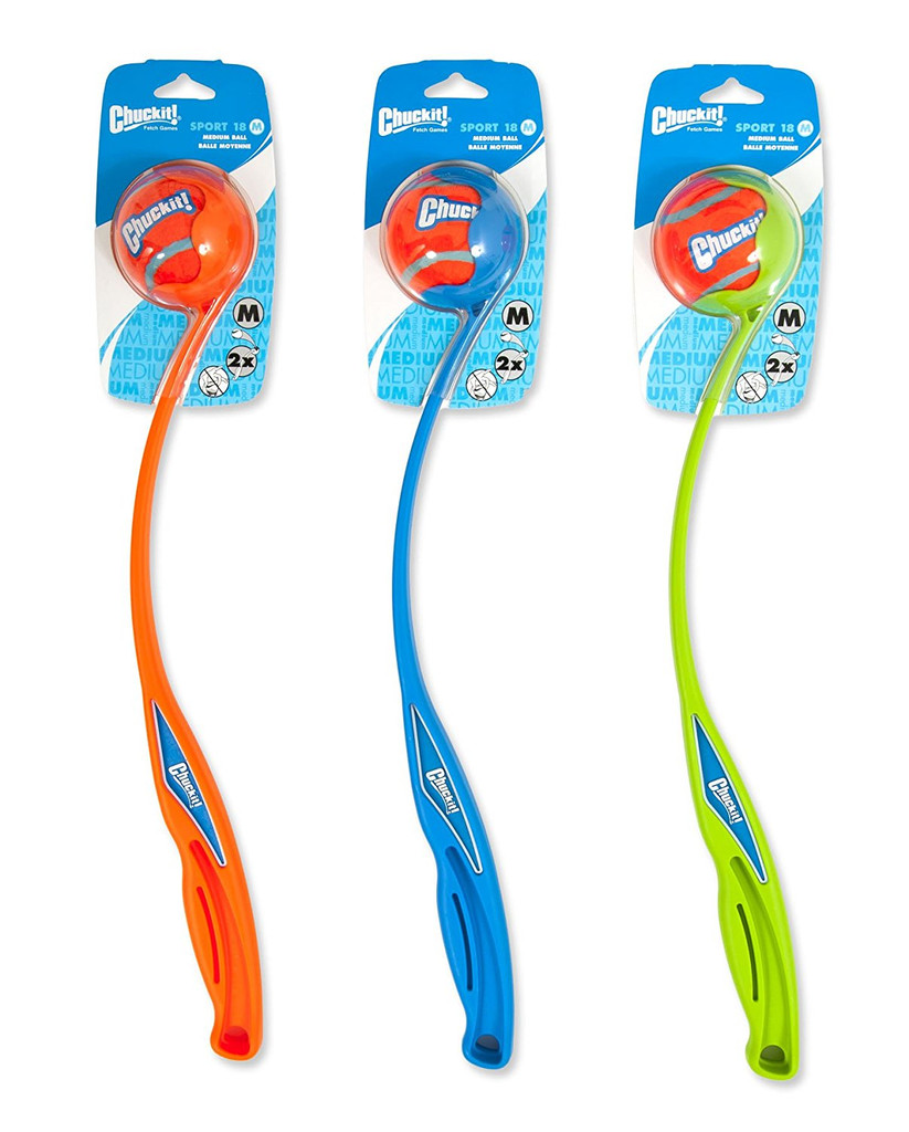 """Chuck-it Ultra Sport Launcher Medium Ball 18"""" - Colour Varies"""