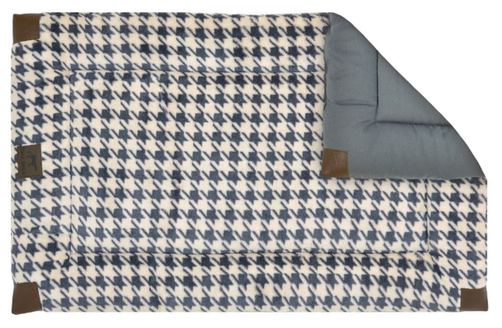 Tall Tails GREY Houndstooth Fleece Crate Bed 36x23 LG