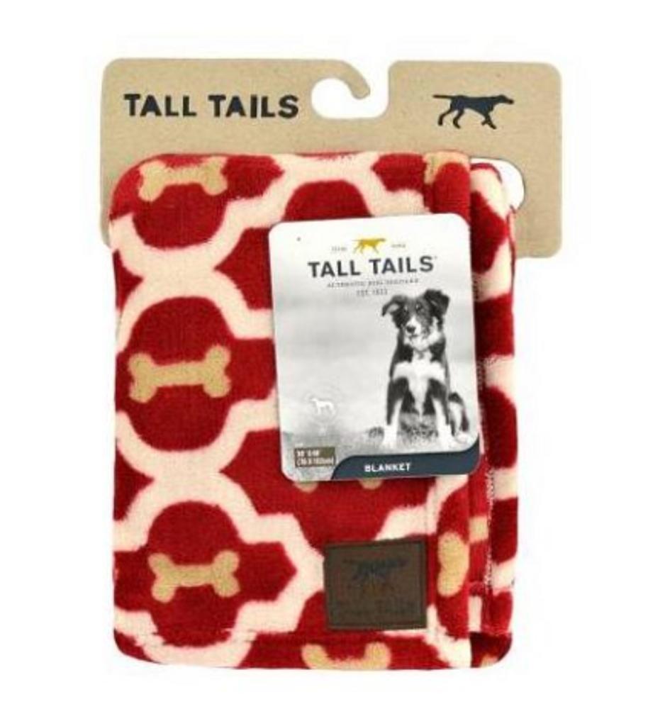 "Tall Tails Red Bone Blanket 30"" x 40"""