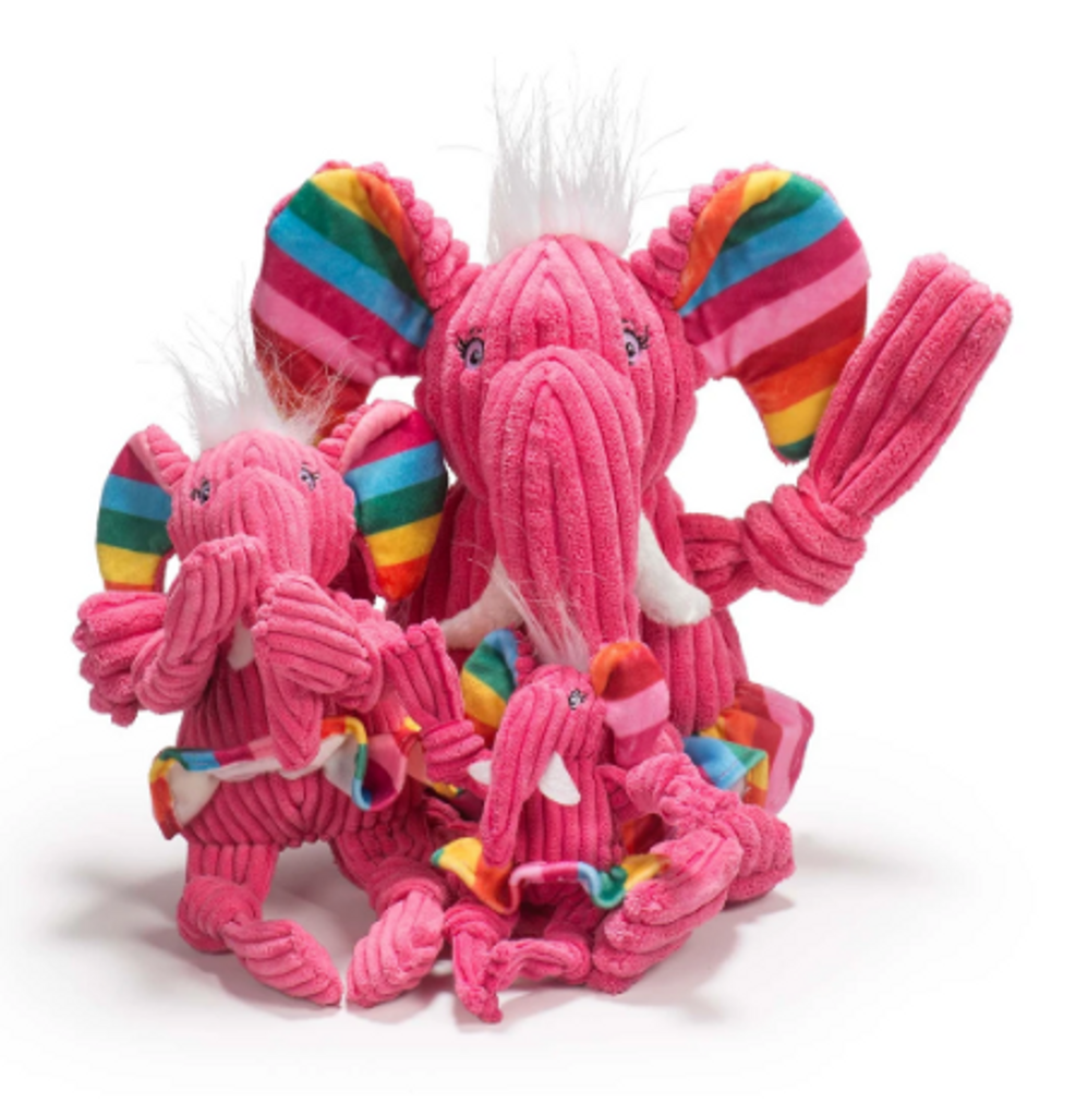 Hugglehound Rainbow Elephant Knottie