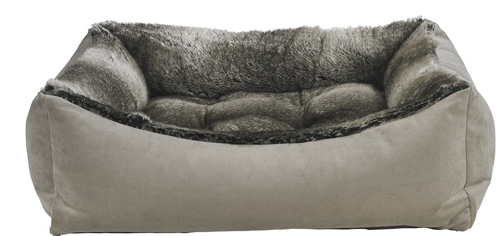 Bowsers Scoop Bed Chinchilla Faux Fur - SM