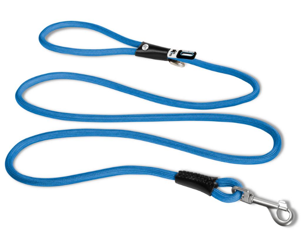 Curli Stretch Comfort Leash Blue - LG