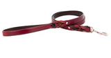 """Auburn Leather Braided Leash Burgundy w/ Nickel 3/4x48"""""""
