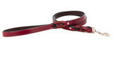 Auburn Leather Braided Leash Burgundy w/ Nickel 3/4x72""