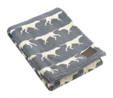 Tall Tails Print Fleece Blanket