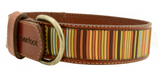 Silverfoot Brown Leather Collar